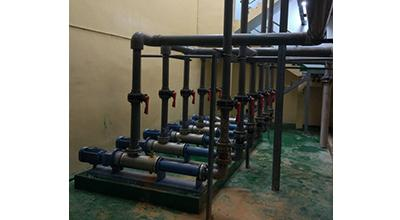 Sewage treatment pumping process flow
